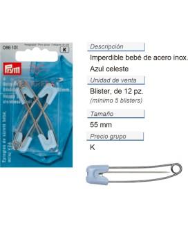 Imperdibles bebe acero inoxid. 55 mm celest  contiene: 5 TAR