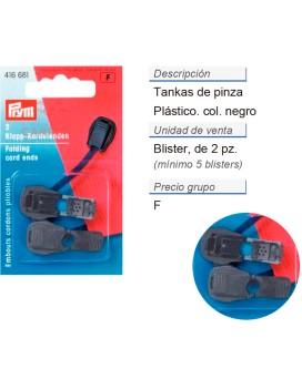 Tankas de pinza plast. negro CONT: 5 TAR de 2 pz