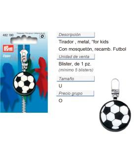 Tirador fashion zip para niños Fútbol negro/blanco CONT: 5 T