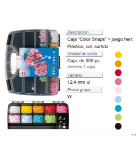 Caja ColorSnaps 300 pz + juego herramienta CONT: 1 PZ de 1 c