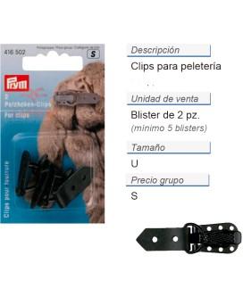 Clips p. peleteria negro CONT: 5 TAR de 2 pz
