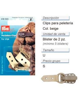 Clips p. peleteria beige CONT: 5 TAR de 2 pz