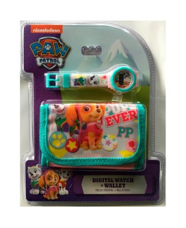 SET BILLETERA+RELOJ PAW PATROL