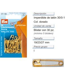 Imperdibles 3/0-1 105d laton dorado  contiene: 5 TAR  de 30