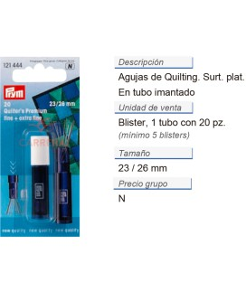 Agujas quilting F+EF surt. plat. CONT: 5 TAR de 20 pz