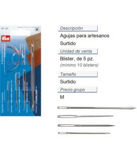 Agujas para artesanos surt. CONT: 5 TAR de 5 pz
