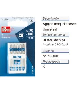 Agujas maq. de coser 130/705h i 70-100 CONT: 10 TAR de 5 pz