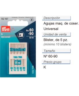 Agujas maq. de coser 130/705h i 60-90 CONT: 10 TAR de 5 pz