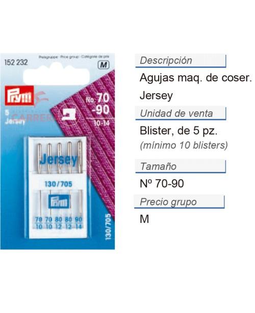 Agujas maq. de coser 705h 70-90 p. jersey CONT: 10 TAR de 5