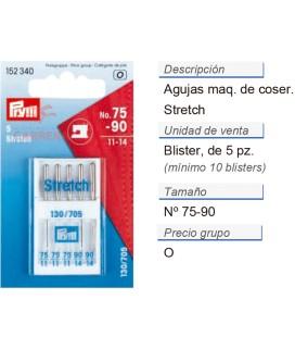 Agujas maq. de coser 705h-s no.75,90 stretch CONT: 10 TAR de
