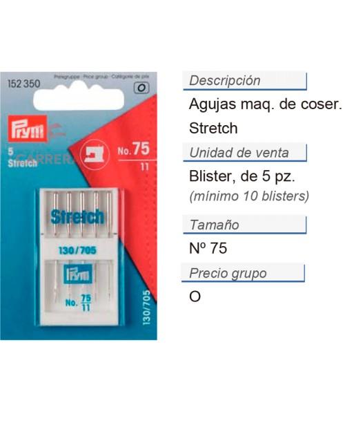 Agujas maq. de coser 705h-s no.75 stretch CONT: 10 TAR de 5