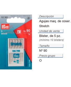 Agujas maq. de coser 705h-s no.90 stretch CONT: 10 TAR de 5