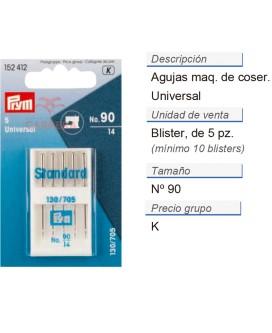 Agujas maq. de coser 130/705h i no.90 CONT: 10 TAR de 5 pz