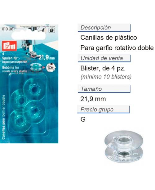 Canillas para garfio rotativo doble CONT: 5 TAR de 4 pz