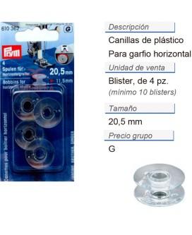 Canillas para garfio horizontal 20,5 mm CONT: 5 TAR de 4 pz