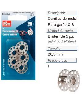 Bobinas centrales es. p. maq. de coser cb CONT: 5 TAR de 5 p