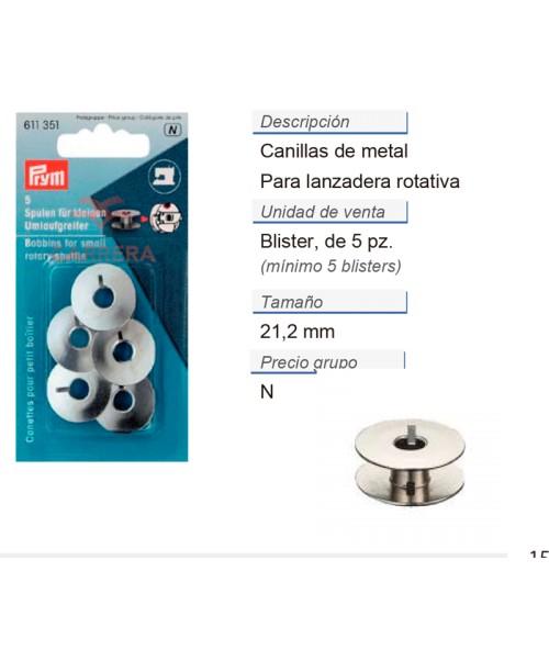 Canilla p. lanzadera rotativa 21,2 mm CONT: 5 TAR de 5 pz