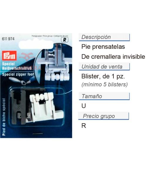 Pie prensatelas de cremallera invisibles CONT: 5 TAR de 1 pz