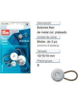 Botones flexi 10 + 15 + 19 mm CONT: 5 TAR de 3 pz
