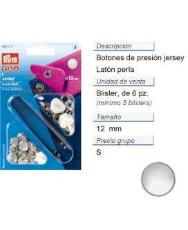 Botones pres. jersey latón perla 12 mm CONT: 5 TAR de 6 pz