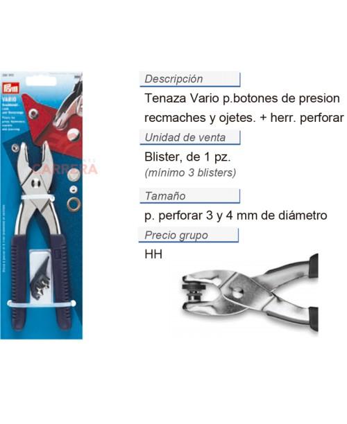 Pinza vario con herram. p. perforar CONT: 3 TAR de 1 pz