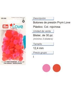 Prym Love Color Bot. pres. pl. 12,4mm rosso CONT: 3 TAR de 3