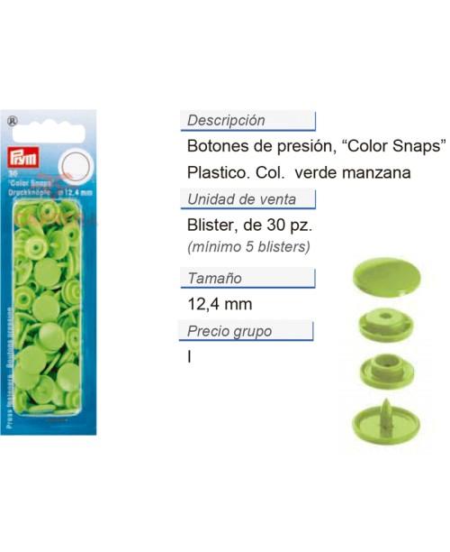 Botones pres. ColorSnaps 12,4 mm manzana CONT: 5 TAR de 30 p
