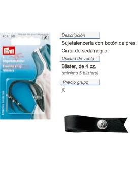 Sujeta-lencería, cinta de seda negro CONT: 5 TAR de 4 pz