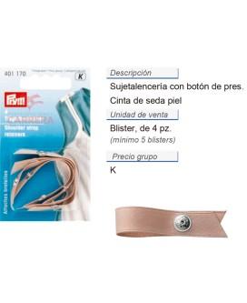 Sujeta-lencería, cinta de seda piel CONT: 5 TAR de 4 pz
