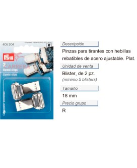Pinzas p. tirantes combi acero 18 mm plateado CONT: 5 TAR de