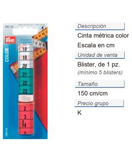 Cinta métrica color 150 cm/cm CONT: 5 TAR de 1 pz