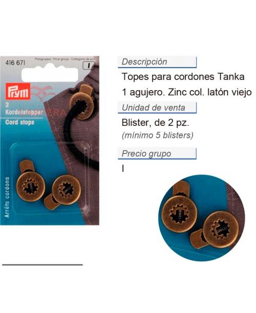 Tope cordones tanka redondo zinc latón viejo CONT: 5 TAR de