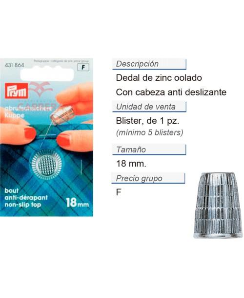 Dedales zinc colado 18,0 mm galvanizado CONT: 5 TAR de 1 pz
