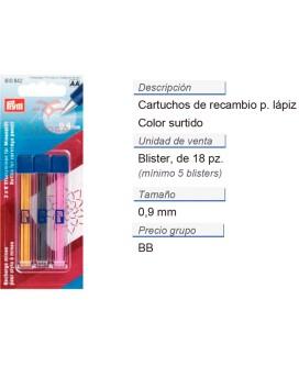Cartuchos de recambio p. lapiz c. cartuc. col. surt. CONT: 5