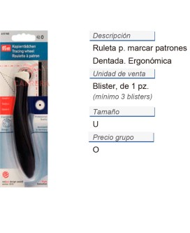 Ruleta p. marcar patrones dentada ergonomic CONT: 3 TAR de 1