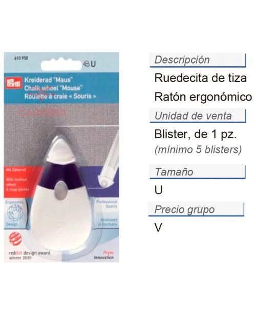 Ruedecita de tiza ratón ergonomic CONT: 5 TAR de 1 pz