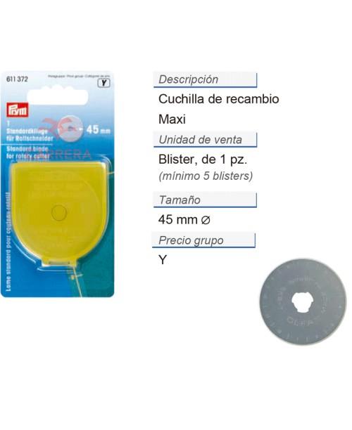 Cuchilla de recambio maxi 45 mm CONT: 5 TAR de 1 pz