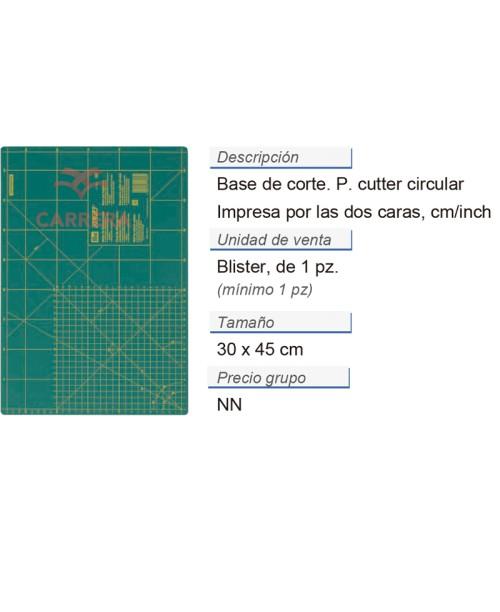Base p. cuter circ. cm/inch 30 x 45 cm CONT: 5 PZ de 1 pz
