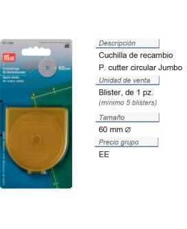 Cuchilla de recambio p. cuter circ. jumbo 60 mm CONT: 5 TAR