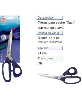 Tijeras para sastre xact Micro Serration 8'' 21 cm CONT: 3 T
