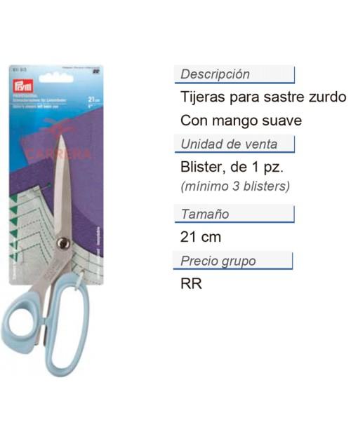 Tijeras para sastre zurdo 8'' 21 cm CONT: 3 TAR de 1 pz