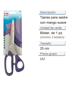 Tijeras para sastre 9 1/2'' 25 cm CONT: 3 TAR de 1 pz