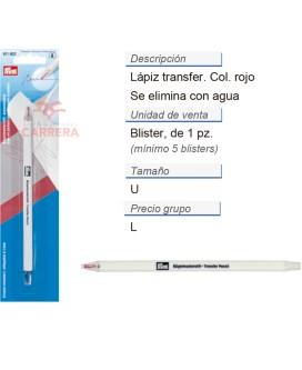 Lápiz transfer se elim. c. agua rojo CONT: 5 TAR de 1 pz