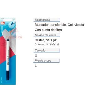 Marcador transferible violeta CONT: 5 TAR de 1 pz