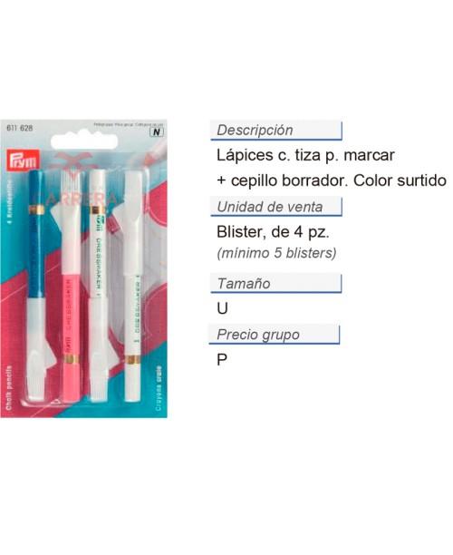 Lapices c. tiza p. marcar + cepillo col. surt. CONT: 5 TAR d