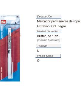Marcador de ropa extra fino permanente negro CONT: 5 TAR de
