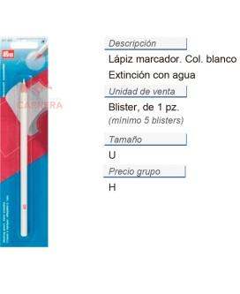 Lápiz marcador por extinc. con agua blaco CONT: 5 TAR de 1 p
