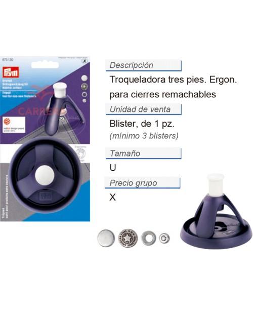 Troqueladora tres pies, para productos remachables CONT: 3 T