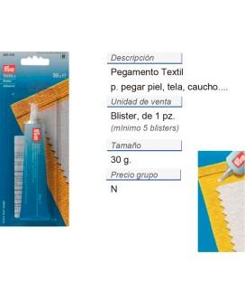 Pegamento textil+ CONT: 5 TAR de 30 g