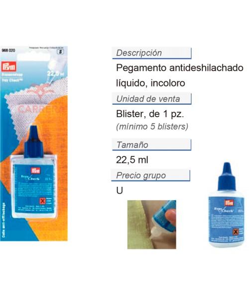 Pegamento antideshilachado CONT: 5 TAR de 0,025 l